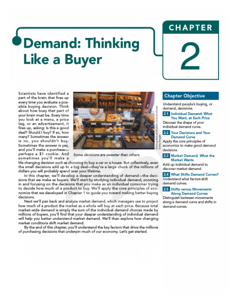 A sample cover page for chapter 2 entitled 'Demand: Thinking Like a Buyer.'