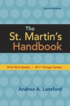 The St. Martin's Handbook with 2016 MLA update