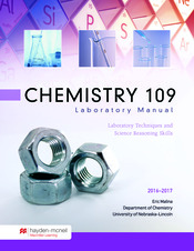 Chemistry 109 Laboratory Manual (2016-17)