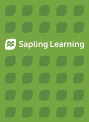 Sapling Learning Single Course Homework Only for General, Organic, and Biochemistry Lab (Access Card)