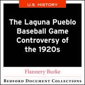The Laguna Pueblo Baseball Game Controversy of the 1920s-U.S.