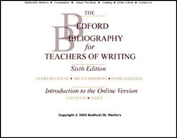Online Bedford Bibliography for Teachers of Writing by Bedford/St. Martin's - First Edition, 2003 from Macmillan Student Store