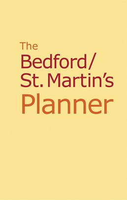 The Bedford/St. Martin's Planner by Bedford/St. Martin's  - First Edition, 2011 from Macmillan Student Store