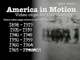 America in Motion by Bedford/St. Martin's - First Edition, 2011 from Macmillan Student Store