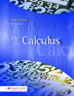 Pre-Calculus by Bill Ambrose - Third Edition, 2017 from Macmillan Student Store