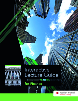 Interactive Lecture Guide for Finance (2016 Update) by Sally Guyton - First Edition, 2015 from Macmillan Student Store
