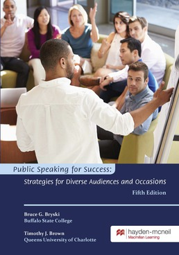 Public Speaking for Success by Bruce Bryski; Timothy Brown - Fifth Edition, 2018 from Macmillan Student Store