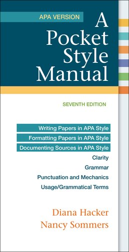 Pocket Style Manual, APA Version by Diana Hacker; Nancy Sommers - Seventh Edition, 2016 from Macmillan Student Store