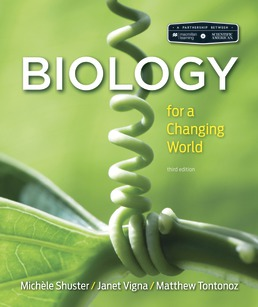 Scientific American Biology for a Changing World by Michele Shuster; Janet Vigna; Matthew Tontonoz - Third Edition, 2018 from Macmillan Student Store