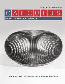 Calculus: Early Transcendentals by Jon Rogawski; Colin Adams; Robert Franzosa - Fourth Edition, 2019 from Macmillan Student Store