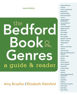 Bedford Book of Genres: A Guide and Reader by Amy Braziller; Elizabeth Kleinfeld - Second Edition, 2018 from Macmillan Student Store