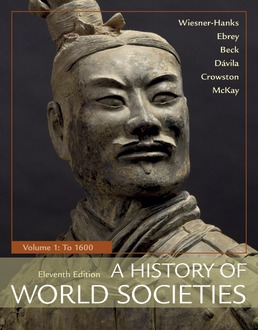 A History of World Societies, Volume 1 by Merry E. Wiesner-Hanks; Patricia Buckley Ebrey; Roger B. Beck; Jerry Davila; Clare Haru Crowston; John P. McKay - Eleventh Edition, 2018 from Macmillan Student Store
