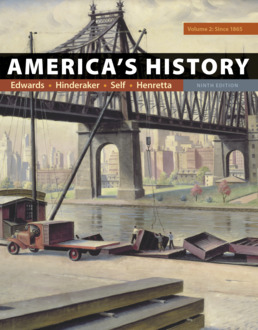 America's History, Volume 2 by Rebecca Edwards; Eric  Hinderaker; Robert O. Self; James A. Henretta - Ninth Edition, 2018 from Macmillan Student Store
