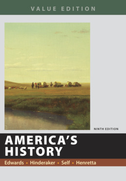 America's History, Value Edition, Combined by Rebecca Edwards; Eric  Hinderaker; Robert O. Self; James A. Henretta - Ninth Edition, 2018 from Macmillan Student Store