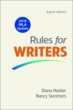 Rules for Writers with Writing about Literature (Tabbed Version) with 2016 MLA Update) by Diana Hacker; Nancy Sommers - Eighth Edition, 2016 from Macmillan Student Store