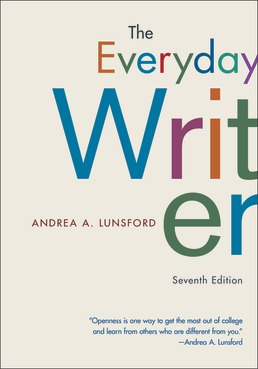 Everyday Writer by Andrea A. Lunsford - Seventh Edition, 2020 from Macmillan Student Store