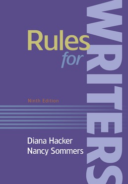 Rules for Writers with Writing About Literature (Tabbed Version) by Diana Hacker; Nancy Sommers - Ninth Edition, 2019 from Macmillan Student Store