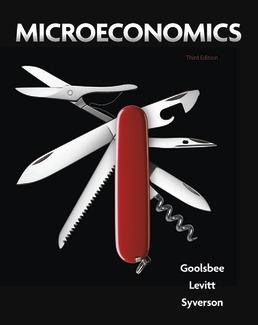 Microeconomics by Austan Goolsbee; Steven Levitt; Chad Syverson - Third Edition, 2020 from Macmillan Student Store