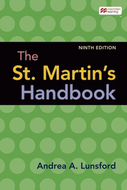 The St. Martin's Handbook (Paper Version) by Andrea A. Lunsford  - Ninth Edition, 2021 from Macmillan Student Store