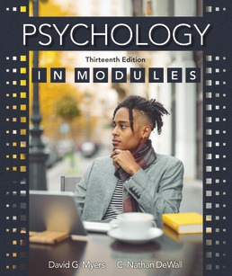 Psychology in Modules by David G. Myers; Nathan C. DeWall - Thirteenth Edition, 2021 from Macmillan Student Store