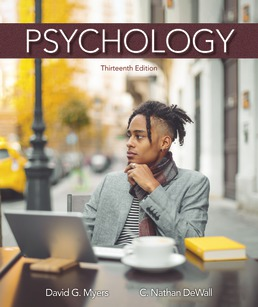 Psychology by David G.Myers; Nathan C. DeWall - Thirteenth Edition, 2021 from Macmillan Student Store