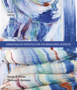 Essentials of Statistics for the Behavioral Sciences by Susan Nolan; Thomas Heinzen - Fourth Edition, 2019 from Macmillan Student Store
