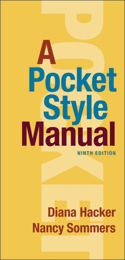 A Pocket Style Manual by Diana Hacker; Nancy Sommers - Ninth Edition, 2021 from Macmillan Student Store