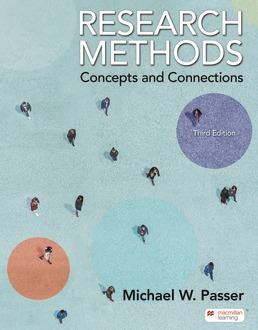 Research Methods by Michael Passer - Third Edition, 2021 from Macmillan Student Store