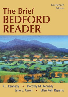 The Brief Bedford Reader by X. J. Kennedy; Dorothy M. Kennedy; Jane E. Aaron; Ellen Kuhl Repetto - Fourteenth Edition, 2020 from Macmillan Student Store