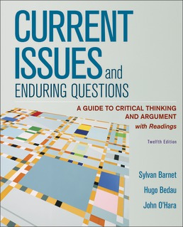 Current Issues and Enduring Questions by Sylvan Barnet; Hugo Bedau; John O'Hara - Twelfth Edition, 2020 from Macmillan Student Store