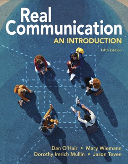 Real Communication by Dan O'Hair; Mary Wiemann; Dorothy Mullin; Jason Teven - Fifth Edition, 2021 from Macmillan Student Store