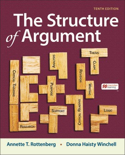 Structure of Argument by Annette Rottenberg; Donna Winchell - Tenth Edition, 2021 from Macmillan Student Store
