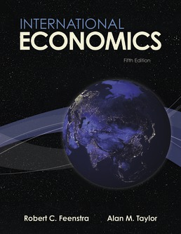 International Economics by Robert Feenstra; Alan Taylor - Fifth Edition, 2021 from Macmillan Student Store