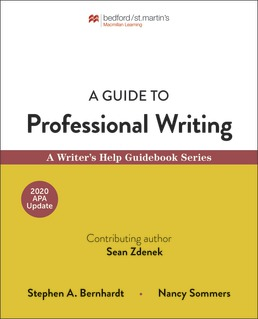 A Guide to Professional Writing by Stephen Bernhardt; Nancy Sommers - First Edition, 2019 from Macmillan Student Store