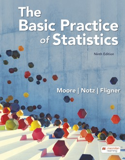 The Basic Practice of Statistics by David S. Moore; William I. Notz; Michael Fligner - Ninth Edition, 2021 from Macmillan Student Store