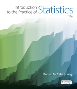 Introduction to the Practice of Statistics by David S. Moore; George P. McCabe; Bruce Craig - Tenth Edition, 2021 from Macmillan Student Store