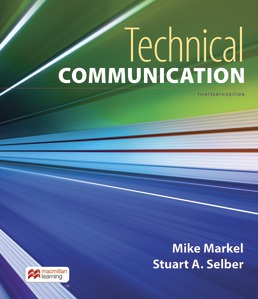 Technical Communication by Mike Markel; Stuart Selber - Thirteenth Edition, 2021 from Macmillan Student Store
