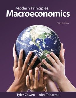 Modern Principles: Macroeconomics by Tyler Cowen; Alex Tabarrok - Fifth Edition, 2021 from Macmillan Student Store