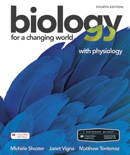 Scientific American Biology for a Changing World with Physiology by Michele Shuster; Janet Vigna; Matthew Tontonoz - Fourth Edition, 2021 from Macmillan Student Store