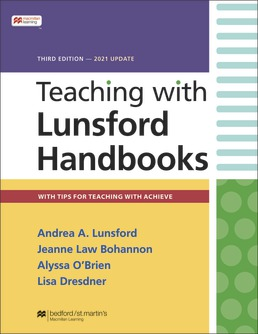Teaching with Lunsford Handbooks, 2021 Update (Online Only) by Andrea A. Lunsford - Third Edition, 2021 from Macmillan Student Store