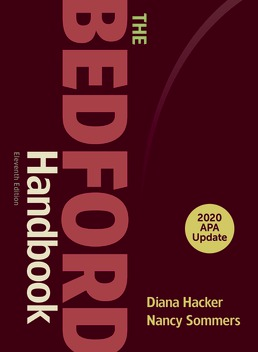 The Bedford Handbook with 2020 APA Update by Diana Hacker; Nancy Sommers - Eleventh Edition, 2020 from Macmillan Student Store