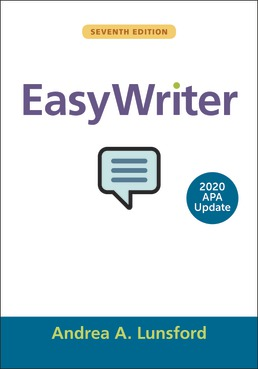 EasyWriter with 2020 APA Update by Andrea A. Lunsford - Seventh Edition, 2019 from Macmillan Student Store