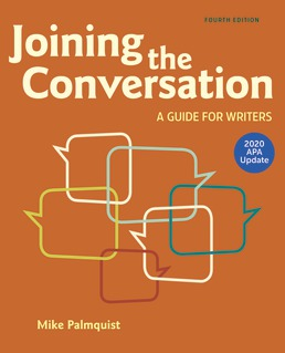 Joining the Conversation with 2020 APA Update by Mike Palmquist; Barbara Wallraff - Fourth Edition, 2020 from Macmillan Student Store