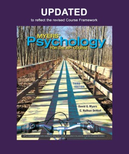 Updated Myers' Psychology for AP® by David G. Myers; C. Nathan DeWall - Third Edition, 2021 from Macmillan Student Store