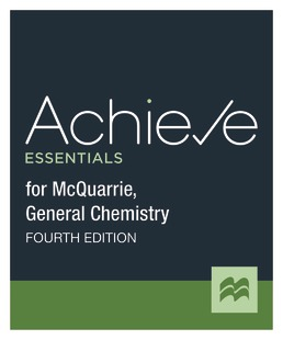 Achieve for General Chemistry (McQuarrie; 1-Term Access) by Macmillan Learning - Fourth Edition, 2021 from Macmillan Student Store