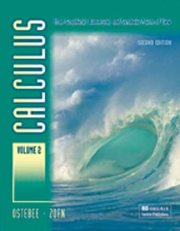 Calculus, Volume II by Arnold Ostebee; Paul Zorn - Second Edition, 2008 from Macmillan Student Store