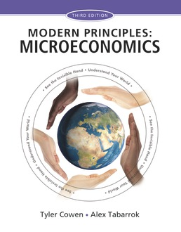 Modern Principles: Microeconomics by Tyler Cowen; Alex Tabarrok - Third Edition, 2015 from Macmillan Student Store