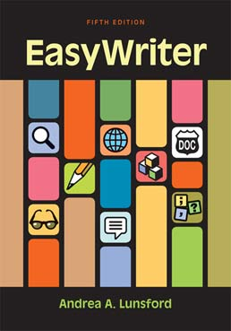 EasyWriter by Andrea A. Lunsford - Fifth Edition, 2014 from Macmillan Student Store