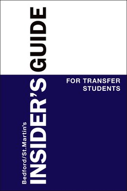 Insider's Guide to Transfer Students by Sharon Padilla-Alvarado - First Edition, 2014 from Macmillan Student Store