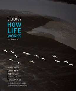 Biology: How Life Works by James Morris; Daniel Hartl; Andrew Knoll; Robert Lue; Melissa Michael; Andrew Berry; Andrew Biewener; Brian Farrell; N. Michele Holbrook - Second Edition, 2016 from Macmillan Student Store